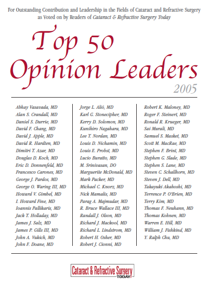 Prof. Dr. Michael Knorz: TOP 50 Opinion Leader